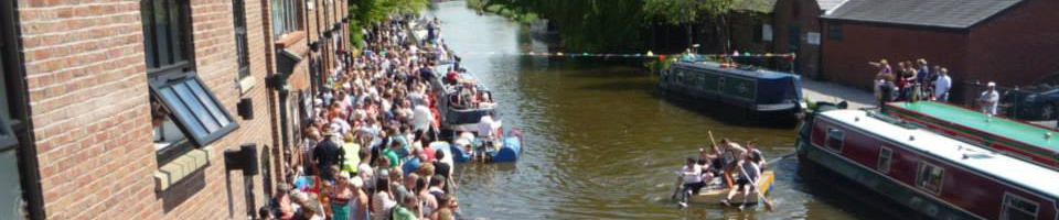 Raft race at Burscough Wharf